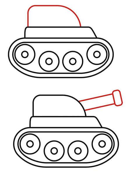 Кабина и пушка у танка