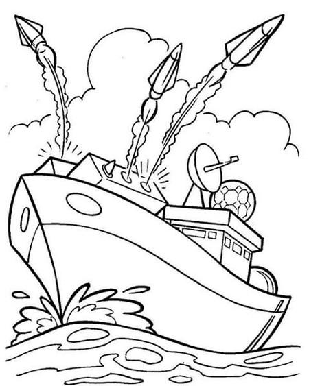 Срисовка корабль