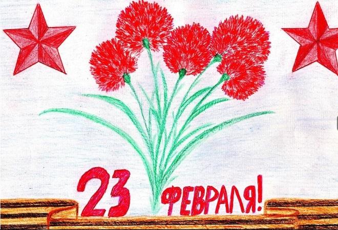 Гвоздики рисунок карандашом