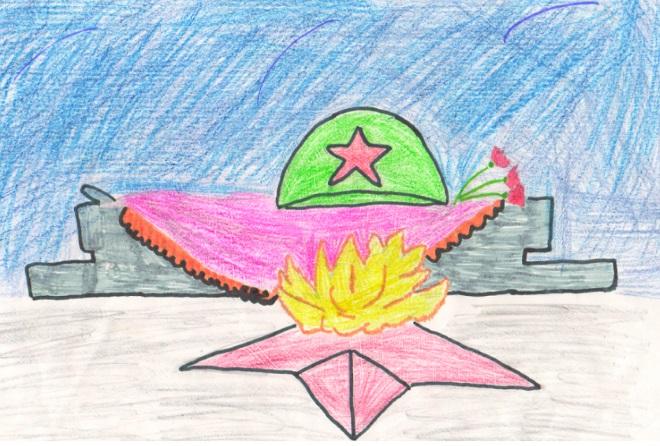 Вечный огонь рисунок карандашом