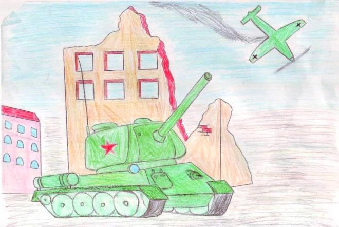 Военный рисунок карандашами