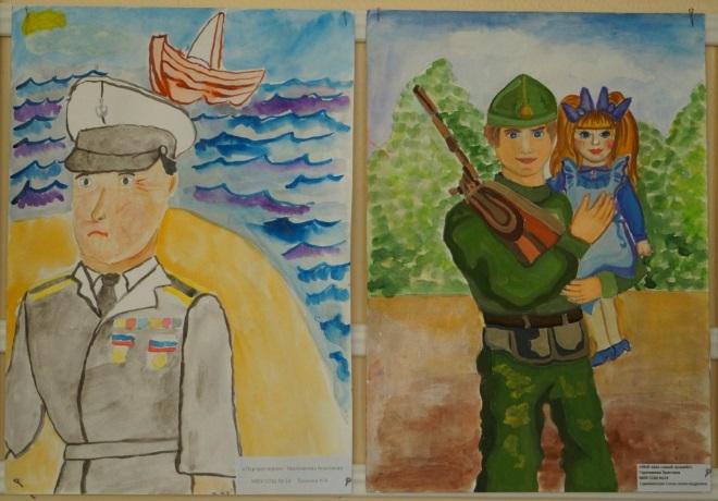 Рисунок военных красками