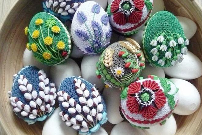 Пасхальные яйца квиллинг