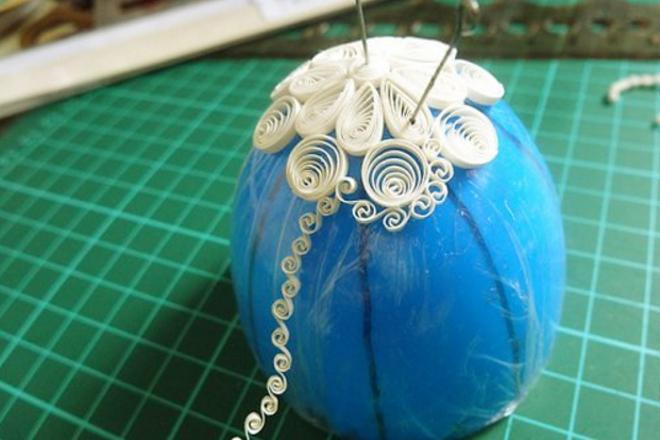 Создание завитков на шарике