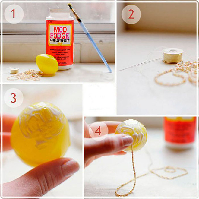 Плетение цепочки из бисера