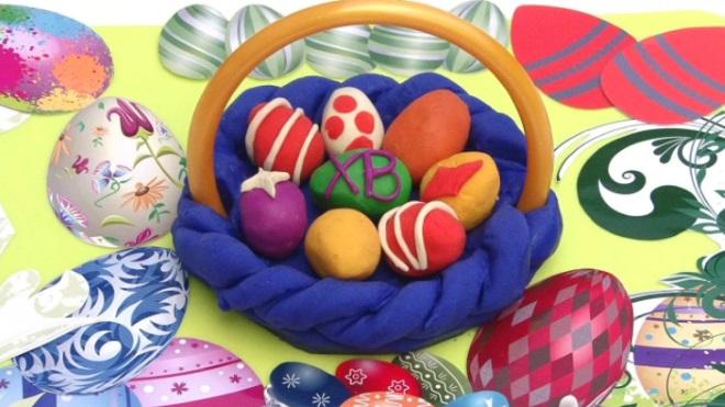 Пасхальные яйца из пластилина