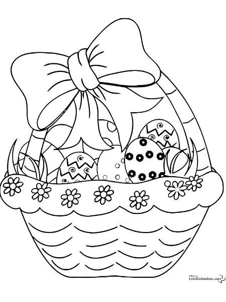 Шаблон 2 рисунка к Пасхе