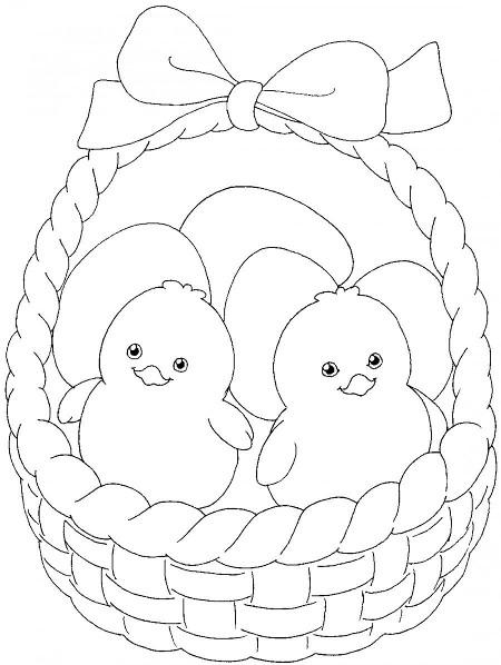 Шаблон 3 рисунка к Пасхе
