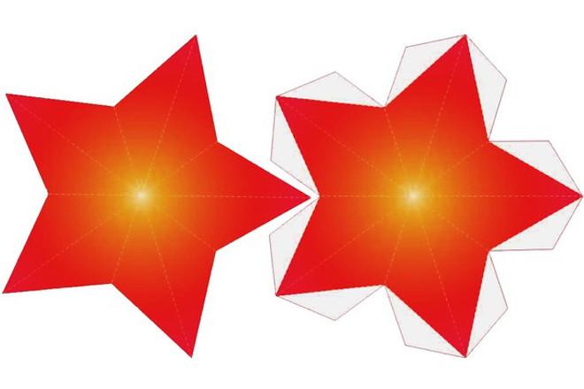 Разукрашенная звезда из картона