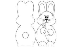 Заготовка открытки с кроликом