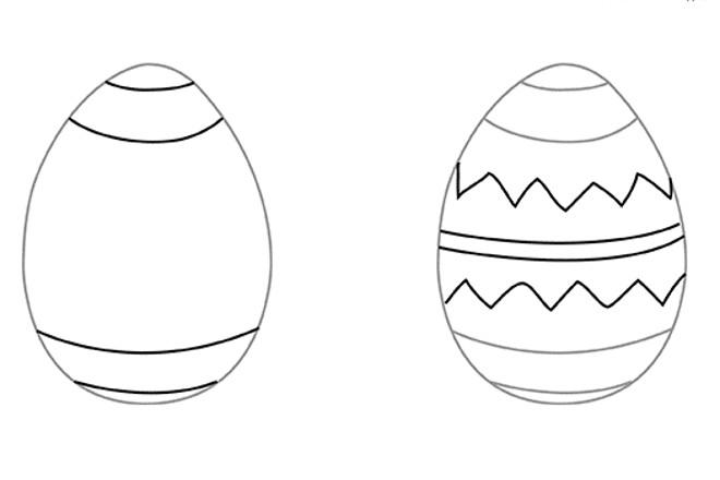 Рисунок орнамента на яйце