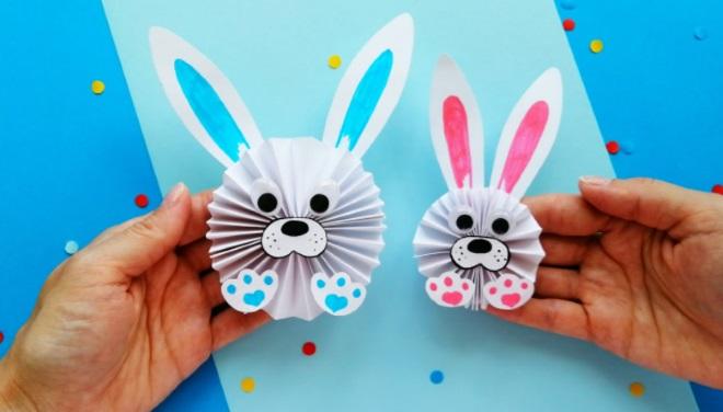 Кролики из бумаги