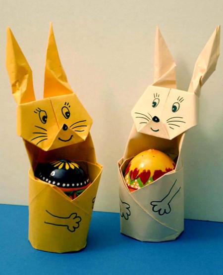 Кролики оригами