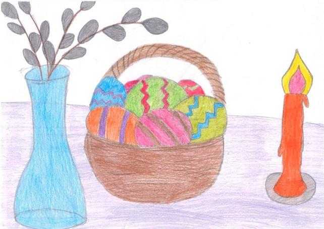 Верба в вазе и корзина