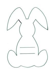 Шаблон заяц 2