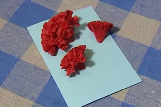 Заготовки гвоздики из салфетки