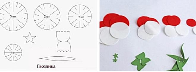 Схема и заготовки из фоамирана