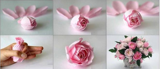 Поделка весенние цветы