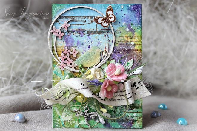 Весенняя открытка