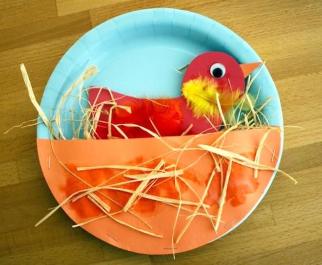 Поделка птица в гнезде