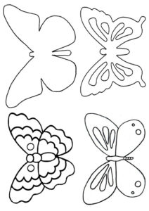 Шаблон бабочек