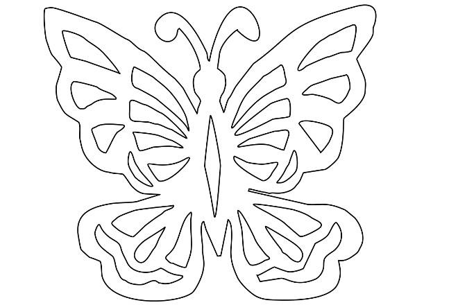 Шаблон 2 бабочки
