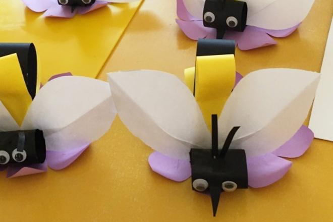 Объемная пчелка из бумаги