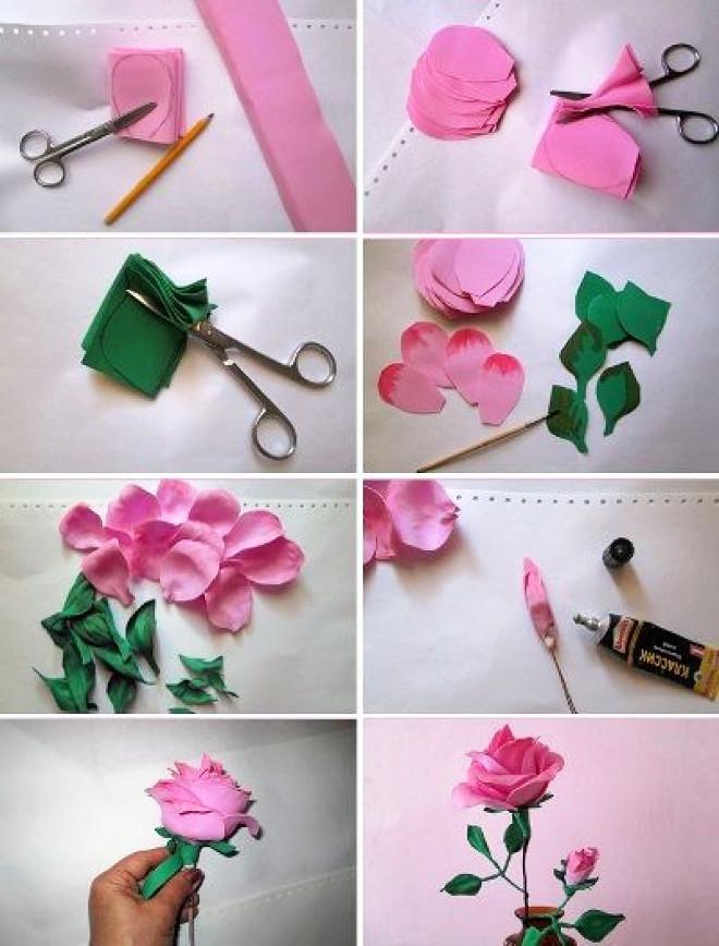 Изготовление цветов из фоамирана