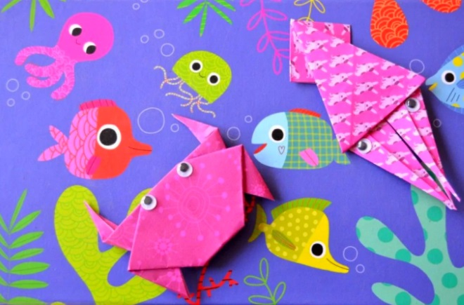 Морской мир в технике оригами