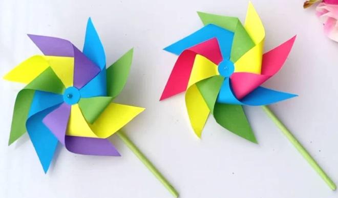 Вертушки цветные