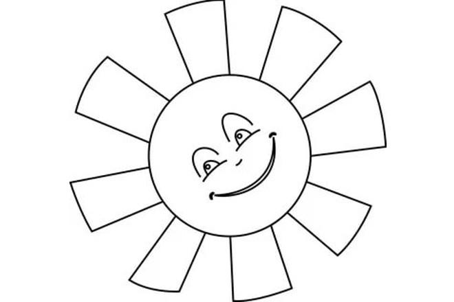 Солнышко шаблон 1