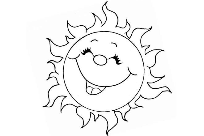 Солнышко шаблон 2