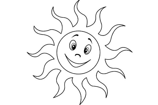 Солнышко шаблон 3