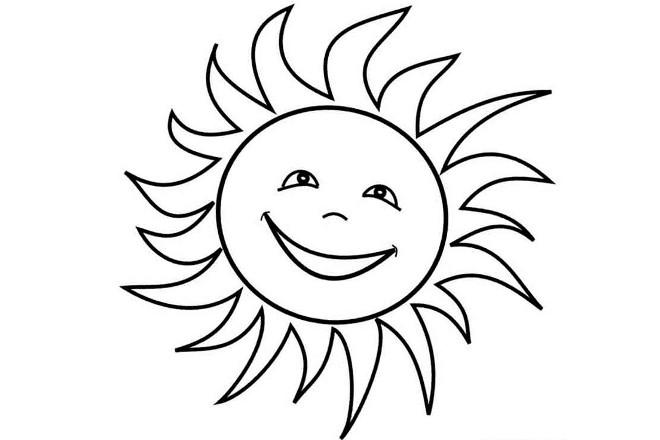 Солнышко шаблон 4