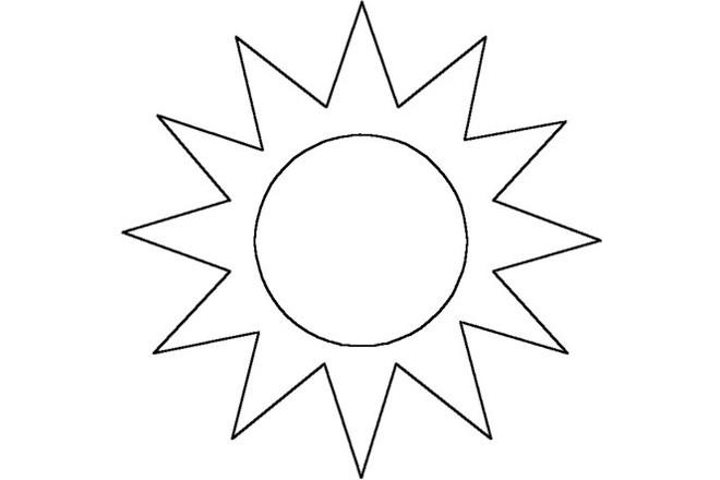 Солнышко шаблон 5