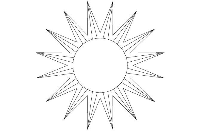 Солнышко шаблон 6