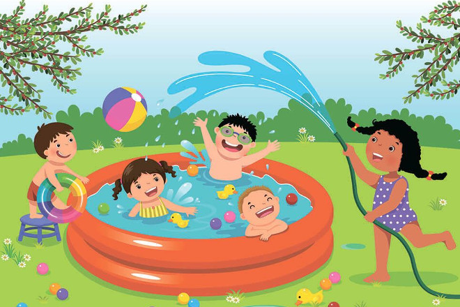 Правила поведения в надувном бассейне