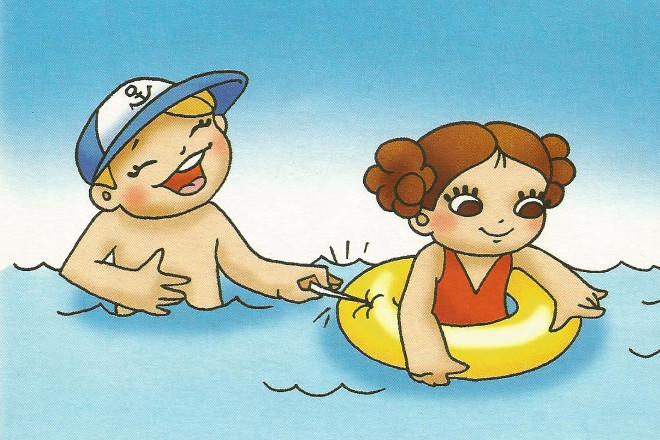 Правила купания в картинках 5