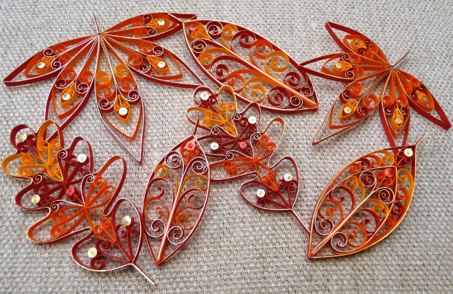 Листья квиллинг