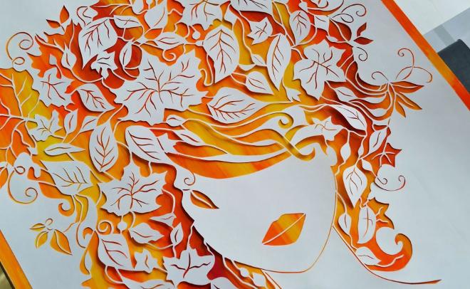 Листья украшение