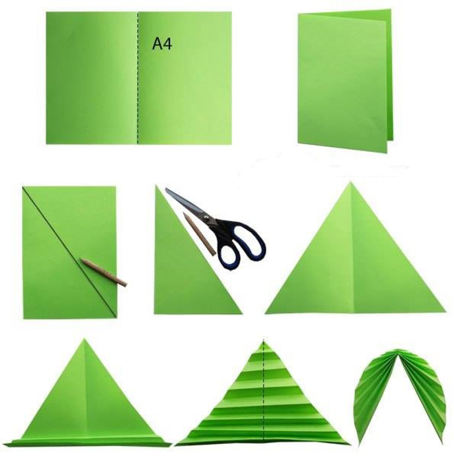 Схема листьев гармошкой