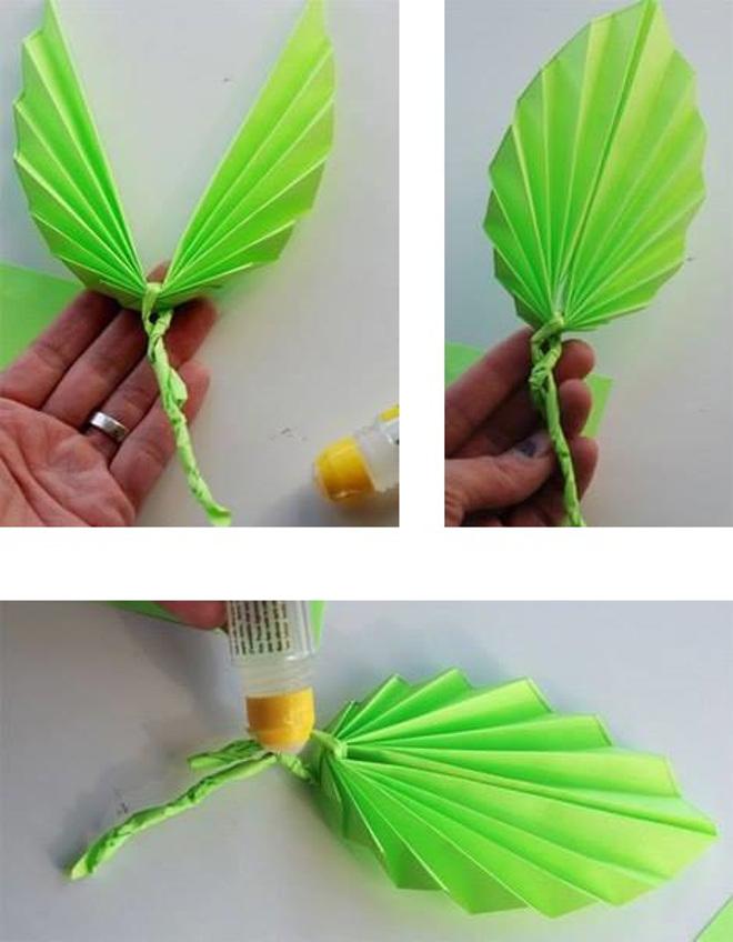 Листья гармошкой