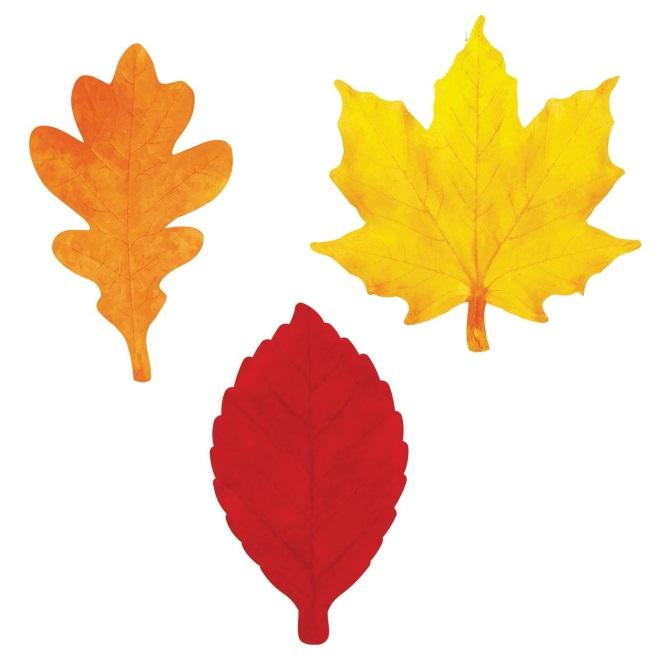 Цветной шаблон листьев 1