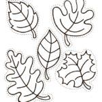 Вертикальный шаблон листьев 2